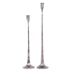 Метален свещник висок, лале 6x6x43 cm
