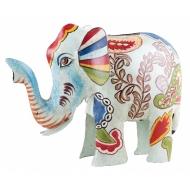 Метален слон касичка с Индийски шарки 24x12x19 cm