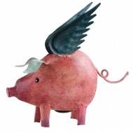 Метално прасенце с крила - касичка