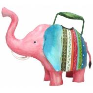 Метална лейка - розово слонче 29x17x25 cm