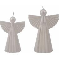 Свещ Ангел - крем /парафин малка 10х6,5х14см