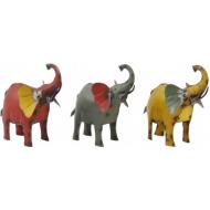 Метален слон - цветен 19x9x20 cм