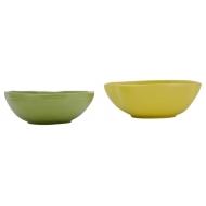 Порцеланова купа - зелен/жълт 19x18,5x7см
