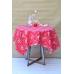 Покривка за маса с розови цветя, 120х160 см