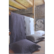 Кувертюр за легло и възглавница светло сив STOF HALTON BOUTIS - P7131003