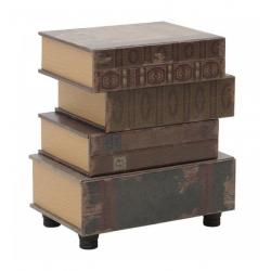 Асиметричен шкаф книги - 48х32х56