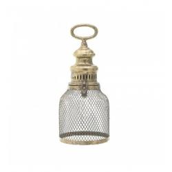 Метаален свещник със златен похлупак-13.5х33