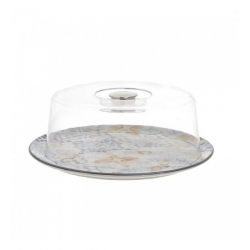 Чинийкаа със стъклен похлупак - 32х12