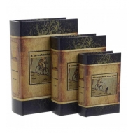 Кожена кутия книга с колело - 21х8х29