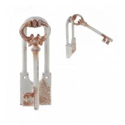 Метален бял ключ за врата